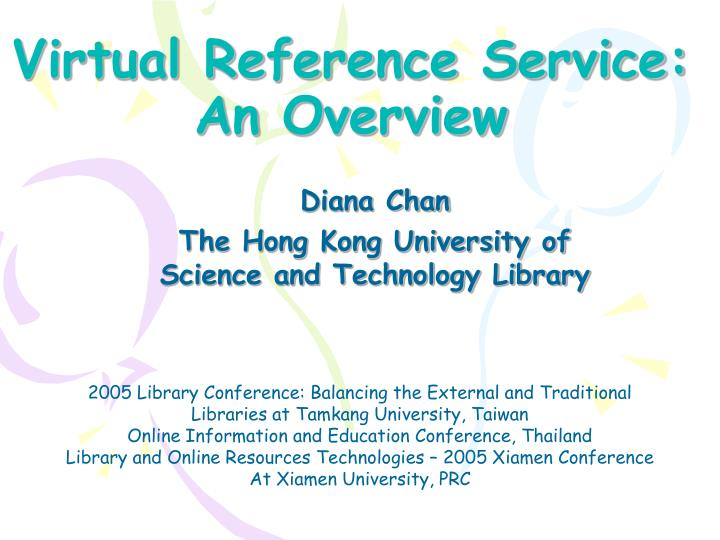 virtual reference service an overview n.