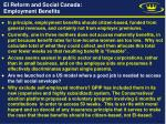 ei reform and social canada employment benefits