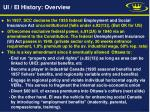 ui ei history overview