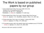 the work is based on published papers by our group