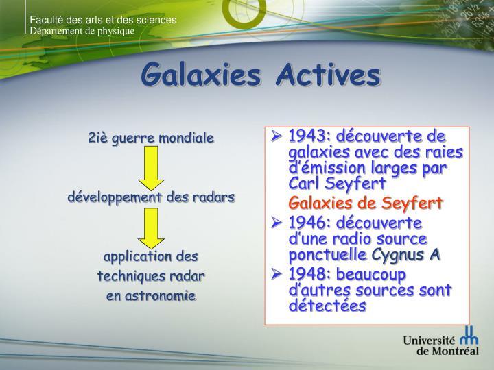 Galaxies actives