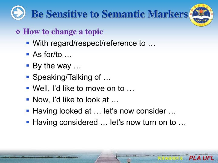 Be Sensitive to Semantic Markers