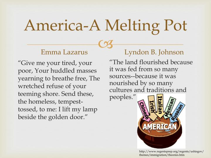 an introduction to the melting pot of america Colorado teacher-authored sample instructional unit 5th grade, social studies unit title: the melting pot page 1 of 20 content area.