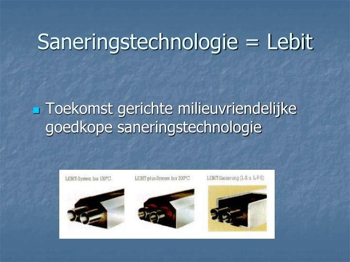 Saneringstechnologie = Lebit