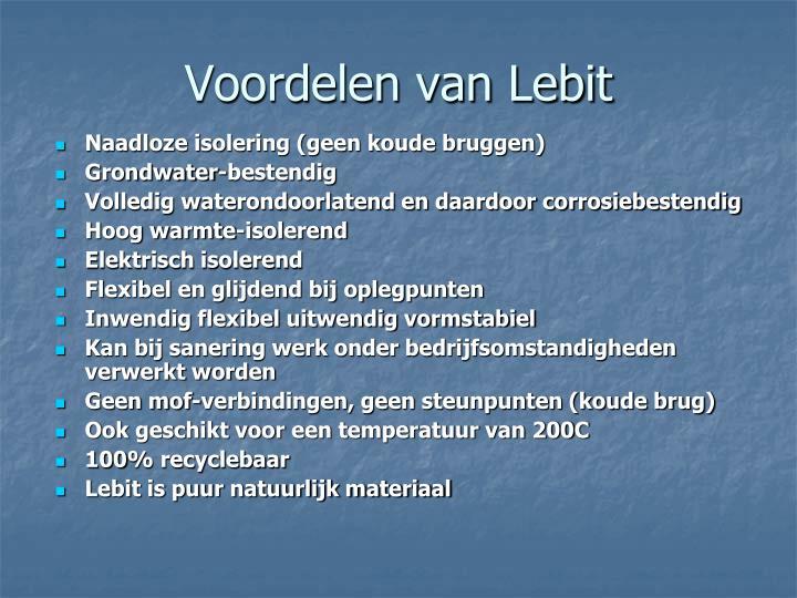 Voordelen van Lebit
