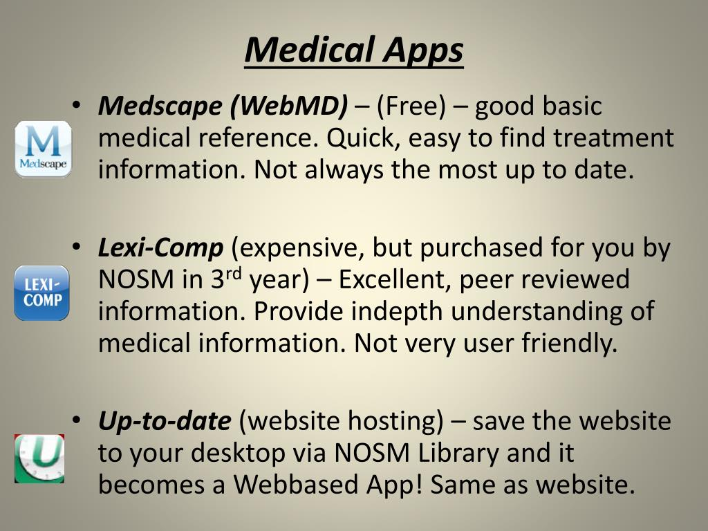 PPT - Medically Useful Software, Websites and IPhone / IPad
