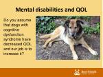 mental disabilities and qol1