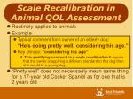 scale recalibration in animal qol assessment