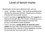 level of bench marks