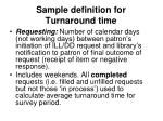 sample definition for turnaround time