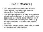 step 3 measuring