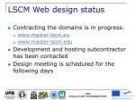 lscm web design status
