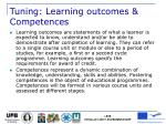 tuning learning outcomes competences