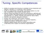 tuning specific competences