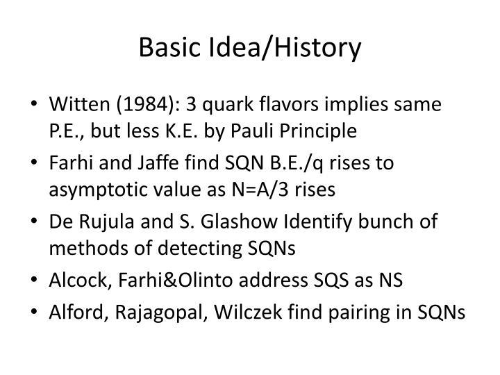 Basic idea history