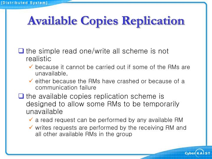 Available Copies Replication