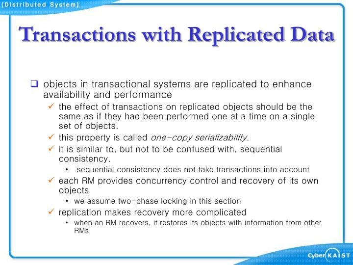 Transactions with Replicated Data