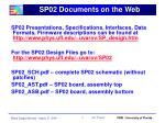 sp02 documents on the web