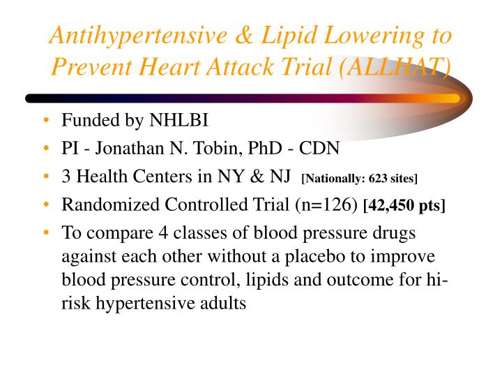 Antihypertensive & Lipid Lowering to Prevent Heart Attack Trial (ALLHAT)