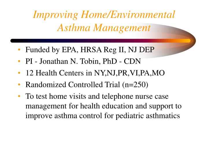 Improving Home/Environmental Asthma Management