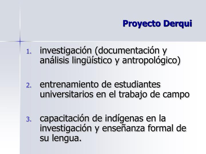 Proyecto Derqui