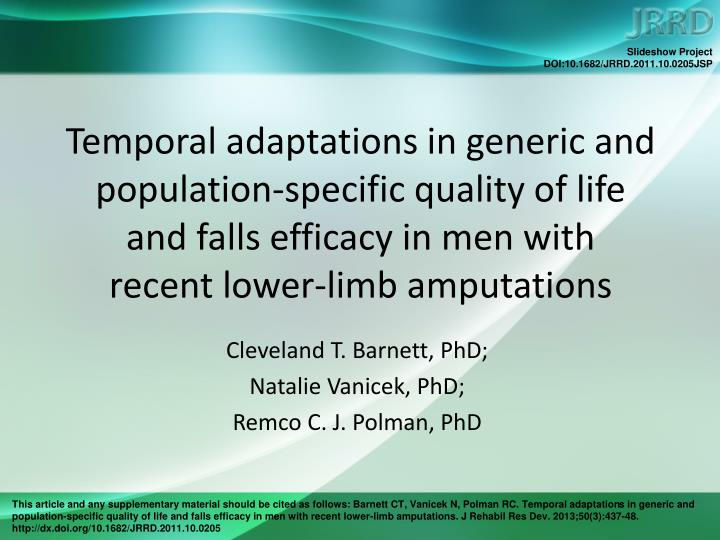 Temporal adaptations in generic and population-specific quality of life