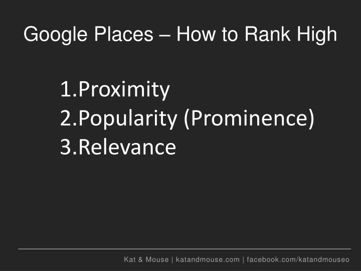 Google Places – How to Rank High
