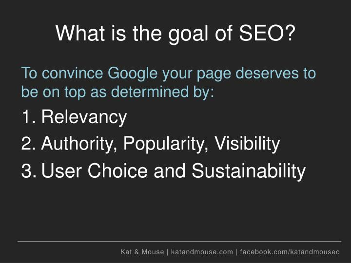What is the goal of seo2