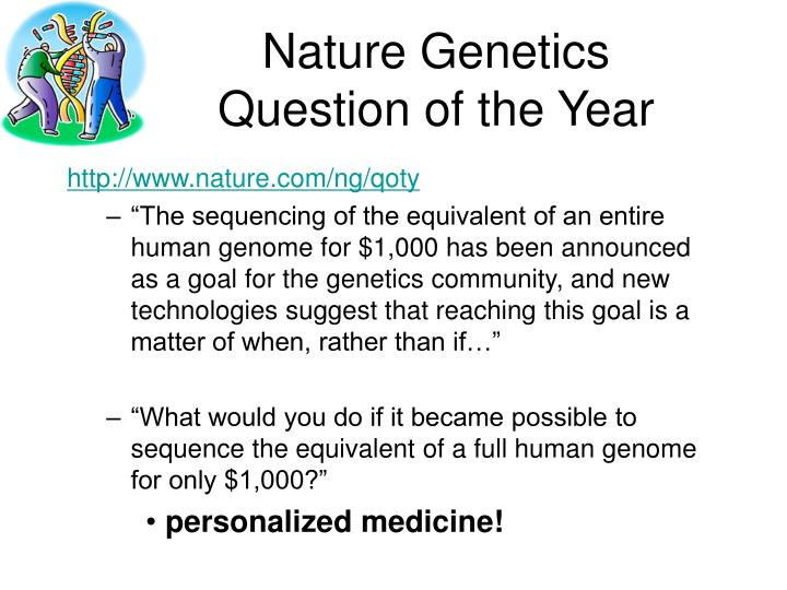 Nature genetics question of the year