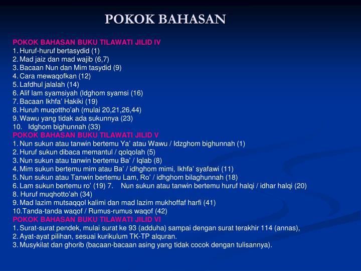 POKOK BAHASAN
