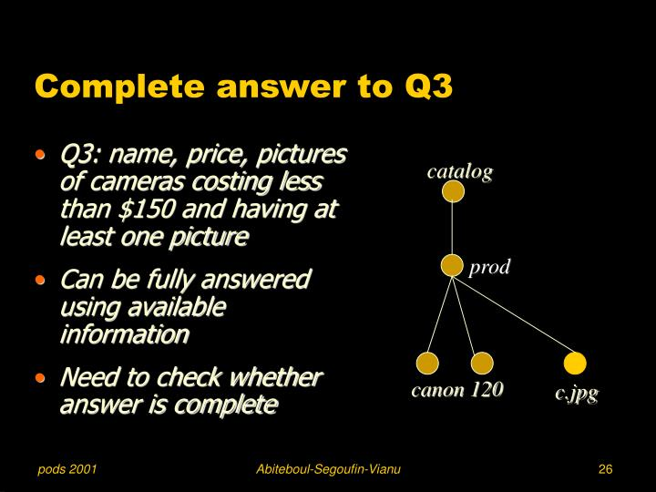 Complete answer to Q3
