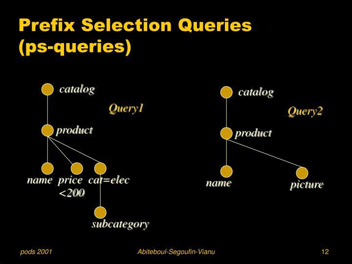 Prefix Selection Queries