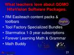 what teachers love about qomo hitevision software packages