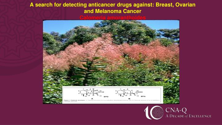 A search for detecting anticancer drugs against: Breast, Ovarian                        and Melanoma Cancer