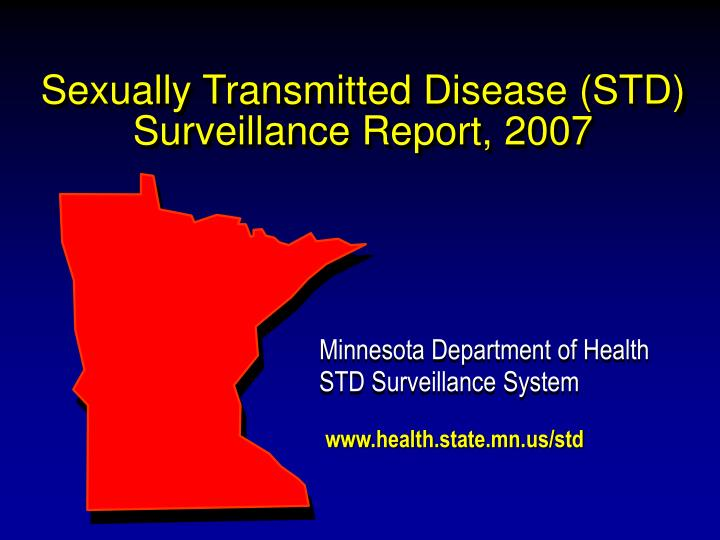 sexually transmitted disease std surveillance report 2007 n.