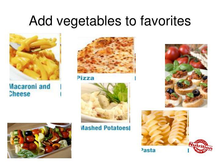 Add vegetables to favorites