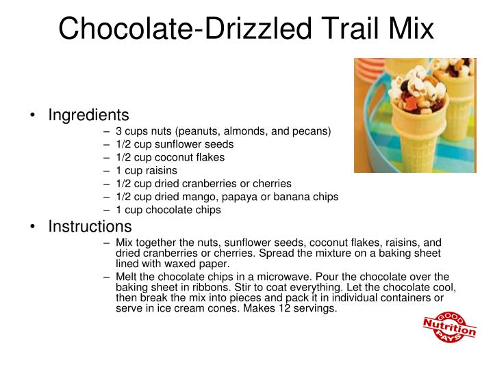 Chocolate-Drizzled Trail Mix