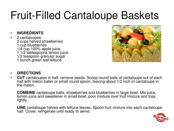 Fruit-Filled Cantaloupe Baskets