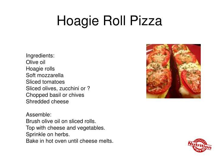 Hoagie Roll Pizza