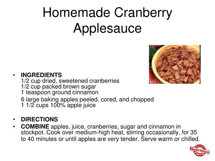Homemade Cranberry Applesauce