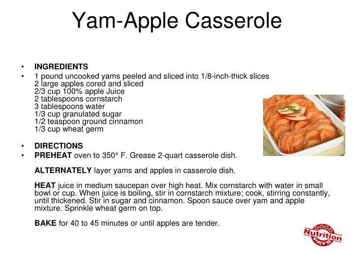 Yam-Apple Casserole