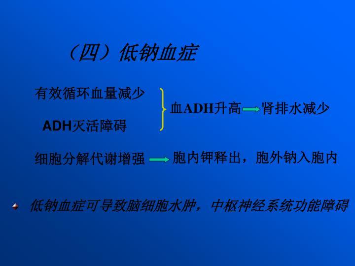 (四)低钠血症