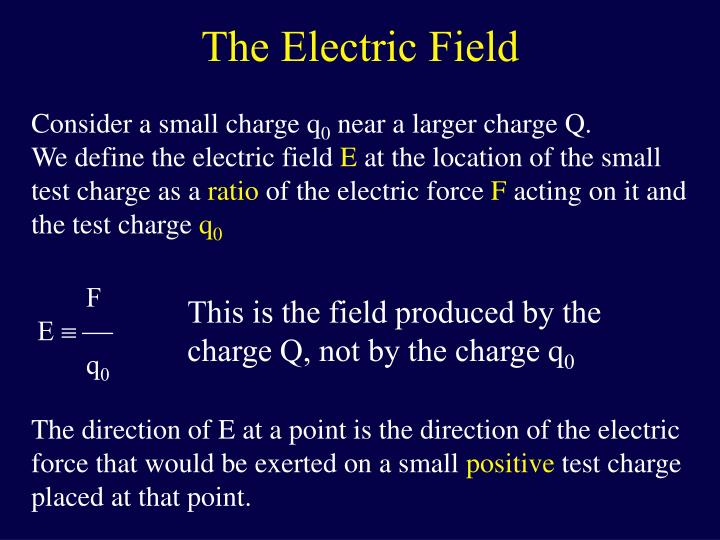 The electric field1