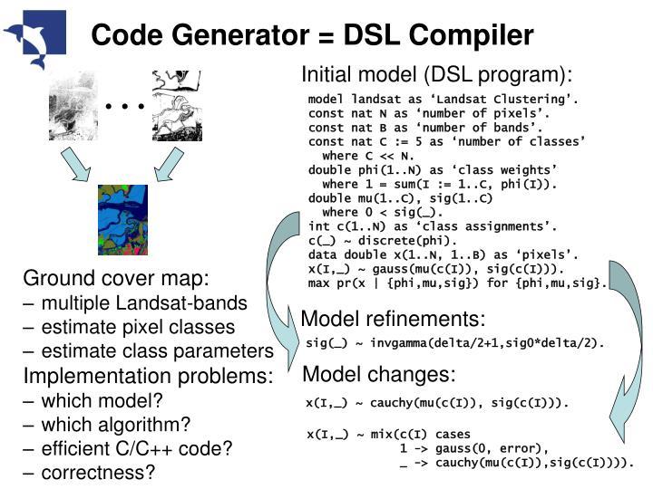 Code generator dsl compiler