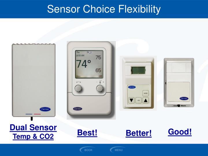 Sensor Choice Flexibility
