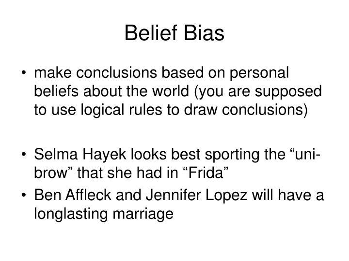 Belief bias