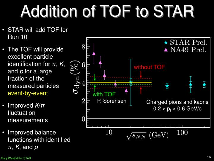 Addition of TOF to STAR