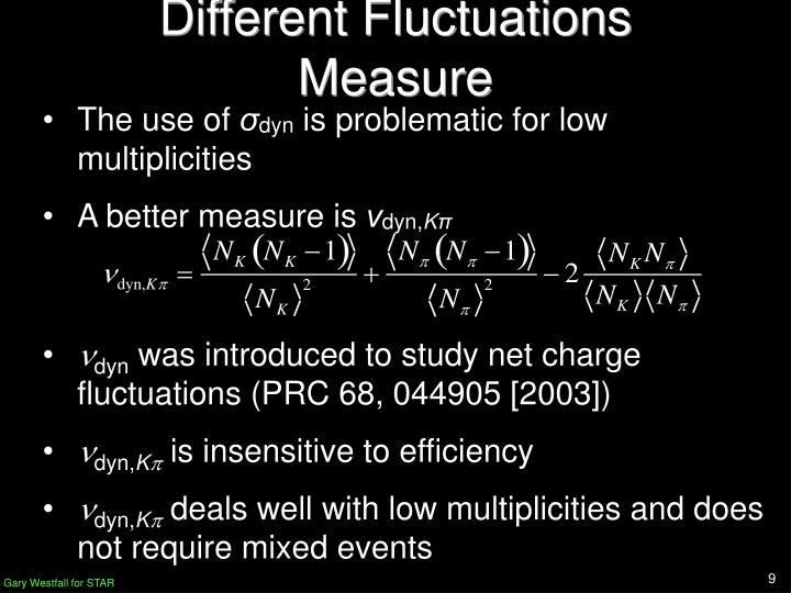 Different Fluctuations Measure