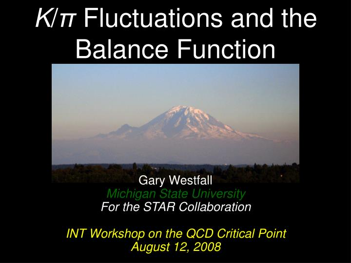 K fluctuations and the balance function