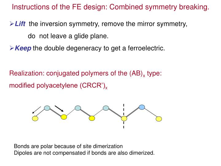 Instructions of the FE design: Combined symmetry breaking.